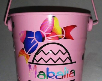 Easter bucket - small - customised- cute  as!