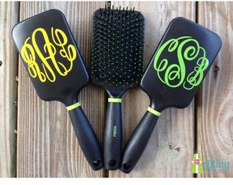 Monogrammed Hairbrush, Personalized Hairbrush, Goody Paddle Brush, Cushioned Hairbrush with Vinyl Monogram