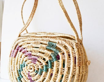 Wicker bag, beach bag large