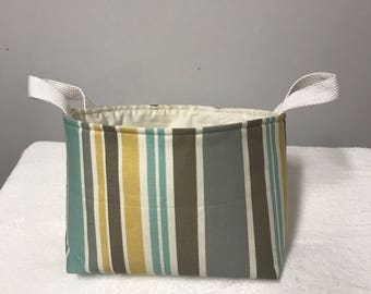 Basket,Fabric storage basket, Storage bin, Organization, Fabric caddy, diaper basket ,Knitting basket