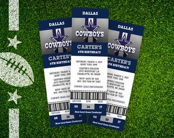 Dallas Cowboy Invite - Ticket Style