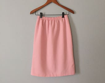 dusty rose pencil skirt | 70s rose pink mini skirt
