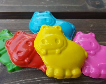 Hippo Crayons set of 20 - party favors