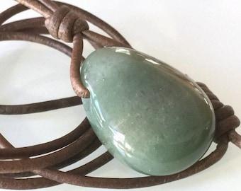 Green Aventurine Pendant (NKLAC-0025)