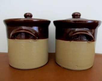 Pearsons of Chesterfield Stoneware Stone Ware Crock, Canister, Bean Pot, Made in England