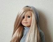 Cropped Hoodie Sweater for 18 inch dolls by The Glam Doll - Grey