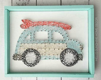 Woody Wagon String Art
