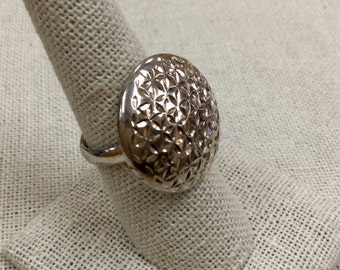 Vintage 925 Sterling Silver Textured  Ring, Size 8!!!!