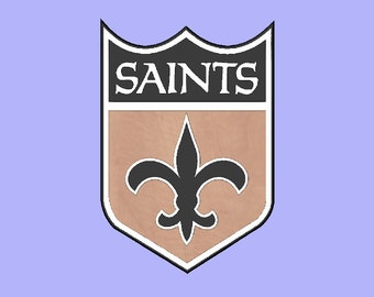"Large (13""x19"") New Orleans Saints Shield Wall Decor"