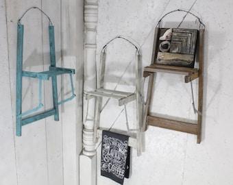 """Vintage Ladder Wall Shelf 28""""  - Choose a Vintage Surface or Pick a Color"""