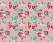 The Shabby Strawberry by Emily Hayes Main Print on Pink