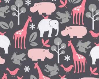 Handmade Curtain Valance 44W x 15W  Zoo in Bloom 100% Cotton