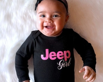 Jeep Girl Baby Onesies and Toddler Shirts