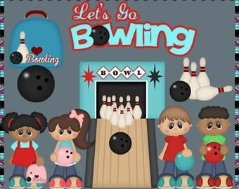 Let's Go Bowling - Instant Download - Commercial Use Digital Clipart Elements Set