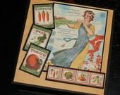 Home Sweet Home Recipe Book-  Mini Album - Handmade Scrapbook Down Home Cooking Recipe Album- Graphic 45 Home Sweet Home