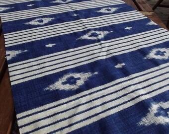 Print table runner. Printed table runner. Swedish tablecloth. Dark blue and white.  Scandinavian pattern.