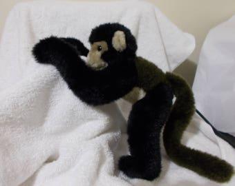 1995 Wildlife Artist Monkey Small of the Wild GORGEOUS So Soft EUC RARE vintage stuffed animal plush tricolor Spider Capuchin small Easter