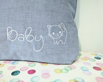 Baby changing bag, cat, new baby gift, changing bag, kitten, diaper bag, baby diaper bag, new baby gift, new baby, baby gift