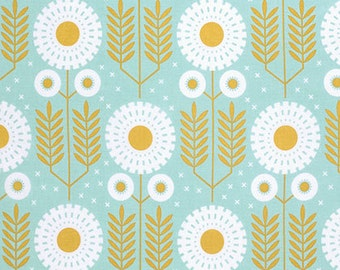 Wander Prairie Bloom in Maize by Joel Dewberry for Free Spirit Fabrics JD0121- Half Yard or By the Yard