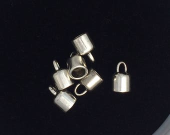 25 pieces Oval bail, oval glue in bail  9mm tall interior diameter 3.47mm antique silver bails 4-20-AS