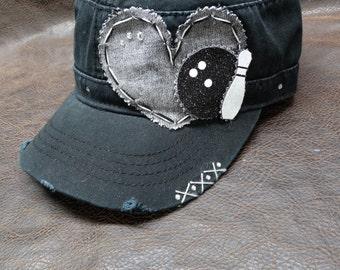 I heart bowling cadet cap