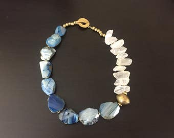 Afrocentric - Rugged Quartz & Agate Necklace