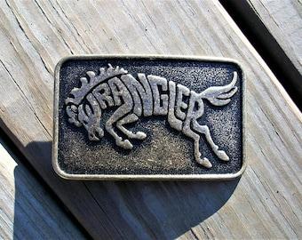 Vintage Wrangler Horse Cowboy Western Belt Buckle