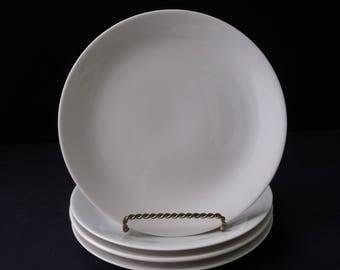 Iroquois Impromptu Bridal White Ben Seibel Salad Plates set of 4