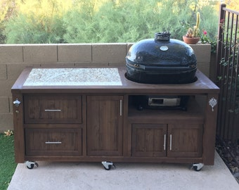 Grill Tables / Cabinets For Kamado Joe, Primo Or Big Green Egg   Outdoor  Kitchens