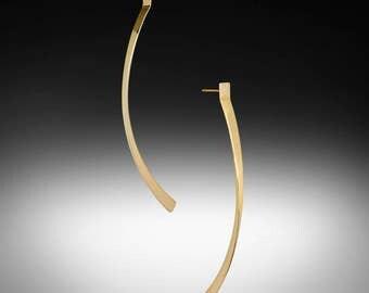 14k gold dangle earrings, Solid gold drop earrings, Gold drop earrings, 14k gold earrings, modern gold earrings, real gold earrings.