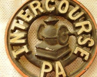 Intercourse, PA Trivet - Vintage, Collectible, Retro, Trivet, Kitchen, Home, Living, Home Decor, Wallhanging