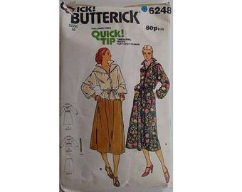 "UNCUT Vintage 70's Butterick 6248 Blouson Shirt, Pullover Blouson Shirt Dress and Skirt Pattern Bust 32.5"" UK 10"