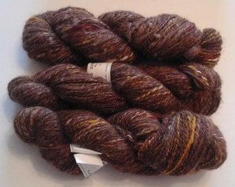 HANDSPUN ALPACA SHETLAND yarn Autimn Hints 9 skeins 450g