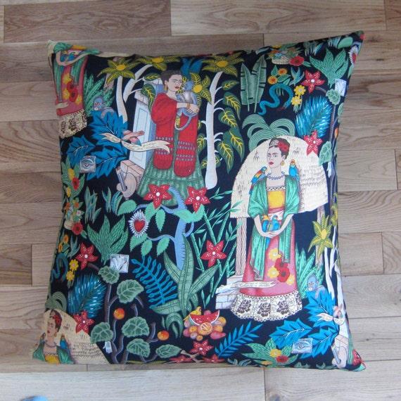 Housse de coussin de sol frida kahlo - Housse de coussin personnalise ...