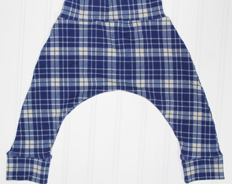 Harem Pants, Navy School Plaid, Baby and Kids Harem Pant Leggings