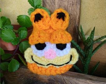 Crochet Garfield Purse, Crochet Purse, Garfield Purse, Animal Purse, Cat Purse, Crochet Handbag, Crochet Wallet, Crochet Bag, Kids purse
