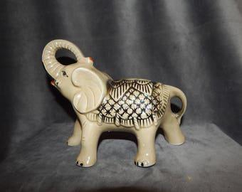 Vintage Ceramic Elephant Iradencent