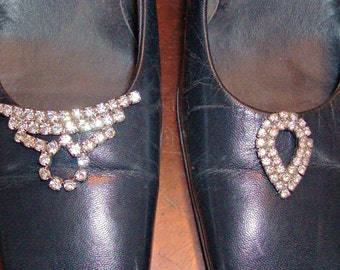 Vintage Lot of 2 Clip-On Shoe Buckles