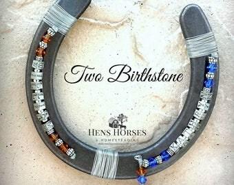 Horseshoe | Mother's Day | Personalized Horseshoe | Two Children Personalized Birthstone Horseshoe | Birthstone Horseshoe | Gift for Mom