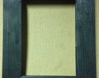 "1-1/2"" Rubbed Black Picture Frame"