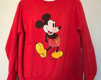 Perfectly Distressed and Thin Mickey Mouse Sweatshirt