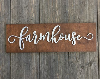 sale farmhouse wood wall plank sign 14w x 45h - Home Decor For Sale