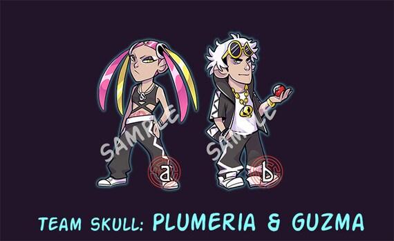 Team Skull Stickers Guzma And Plumeria Stickers Alola