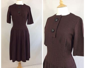 1950s Dress, Smart Casual, UK size 10-12, US size 8-10.