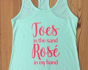 Toes in the Sand Racerback Tank
