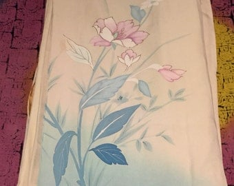 Pastel Pink Silk Kimono