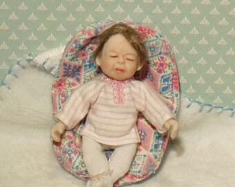 ooak miniature handmade baby dollhouse art doll