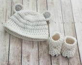 Baby Mouse Hat and Booties