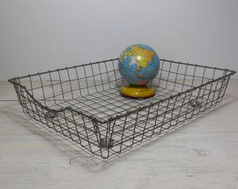 Vintage Wire Tray - Office Tray - Desk Tray - Industrial