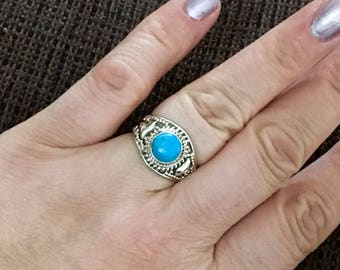 Amazing, sleeping beauty turquoise 925 sterling silver ring